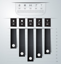 Abstract carbon infographics vector image vector image
