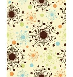 Abstract retro dots - seamless pattern vector image vector image