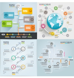 Business timeline elements template vector image vector image