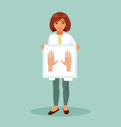female dermatologist vector image vector image