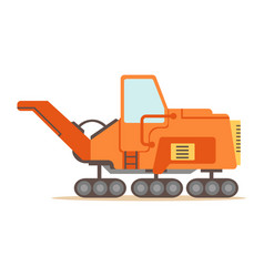 orange gravel spreading graver machine part of vector image vector image