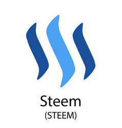 steem cryptocurrency symbol vector image vector image