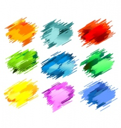 abstract splashes vector image vector image