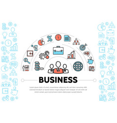 Business management and finance elements template vector