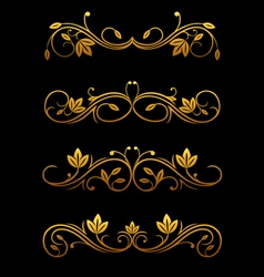 golden vintage borders vector image