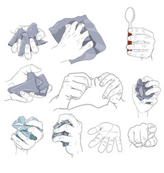 hand action holding paper vector image