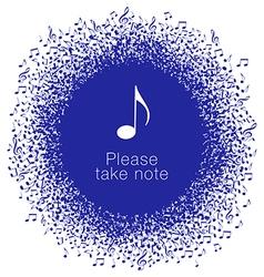 Notes Circle Banner vector image