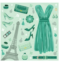 paris fashion set vector image vector image