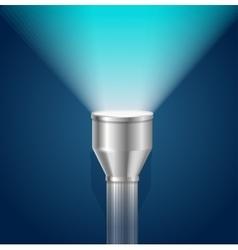 Pocket Torch Light Flashlight vector image vector image