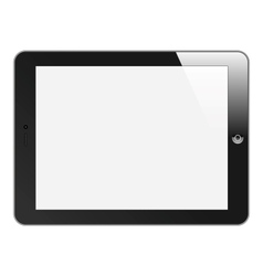 Realistic Tablet PC with blank screen Horizontal vector image