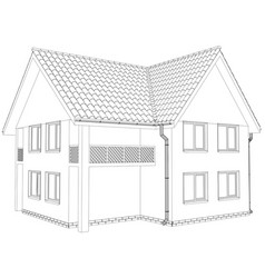 sketch outline house on the white background vector image vector image