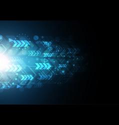 technology future modern light arrow vector image vector image
