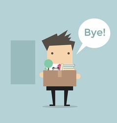 Businessman Leaving Job vector image