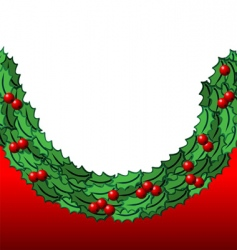 holly background vector image vector image