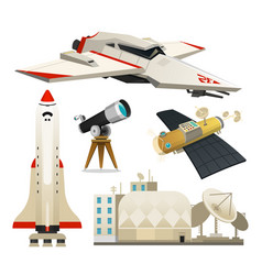 space shuttle radio telescope for station for the vector image vector image