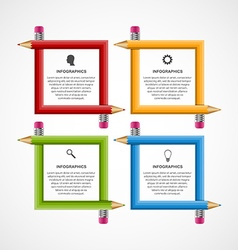 Abstract education pencil option Infographics vector image