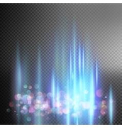 Bright blue magic lights EPS 10 vector image vector image