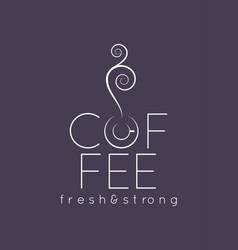 coffee cup logo menu design background vector image vector image