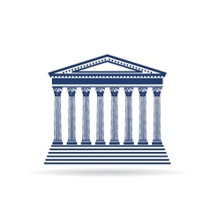 Justice court building image icon vector image vector image