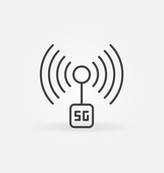 5g fifth generation network technology outline vector image