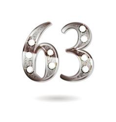 63 years anniversary celebration design vector