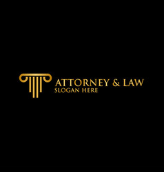 abstract pillar attorney law logo template vector image