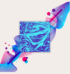 abstract wave liquid blue and purple color and vector image