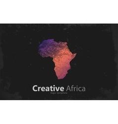 Africa creative logo design map vector