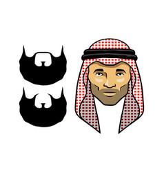 Arabian men head red vector