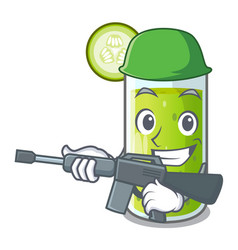 army character fresh juice of green cucumber vector image