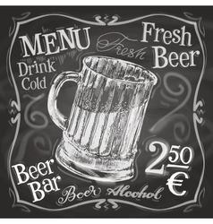 beer mug logo design template alcoholic vector image