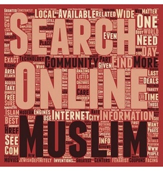 Best deals with the Muslim online community text vector image