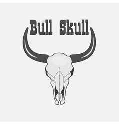 black and white Cow Skull Logo vector image
