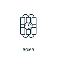 bomb thin line icon creative simple design from vector image