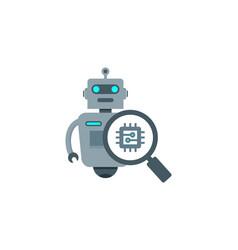 Browse robot logo icon design vector