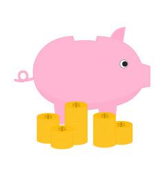 Business benefit money and piggy bank vector