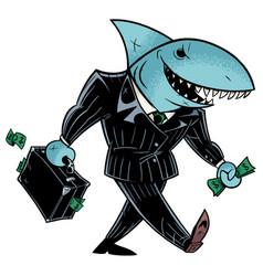 business shark dark suit vector image