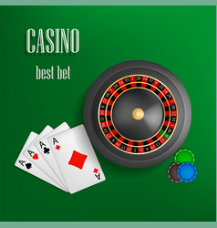 casino roulette best bet concept background vector image