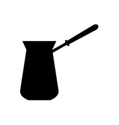 Cezve turkish coffee pot in simple style vector