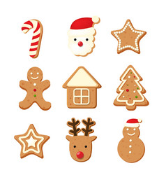 christmas color cookies vector image