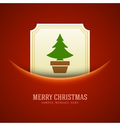 Christmas green tree card background vector image