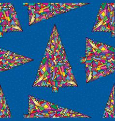 Christmas trees pattern abstract xmas bright vector
