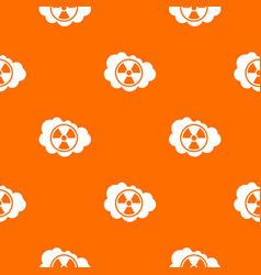 cloud and radioactive sign pattern seamless vector image