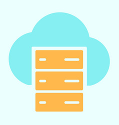 cloud server line icon simple minimal pictogram vector image
