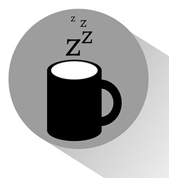 Coffee to sleep vector