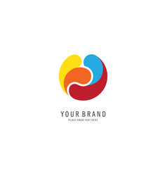 Colorful circle logo vector