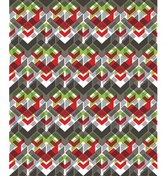 Colorful stylized symmetric endless pattern vector image