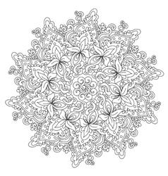 Coloring Outline Vintage Mandala vector
