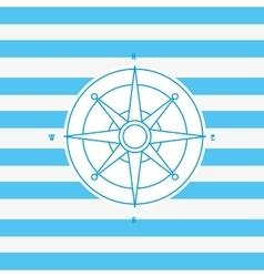 Compass nautical emblem image vector