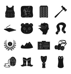 Crime mongolia animal and other web icon in vector